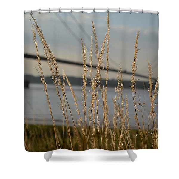 Shower Curtain featuring the photograph Wasting Time By The Humber by Scott Lyons