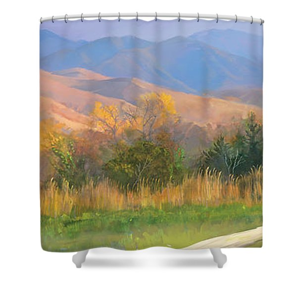 Watching The Field  Shower Curtain