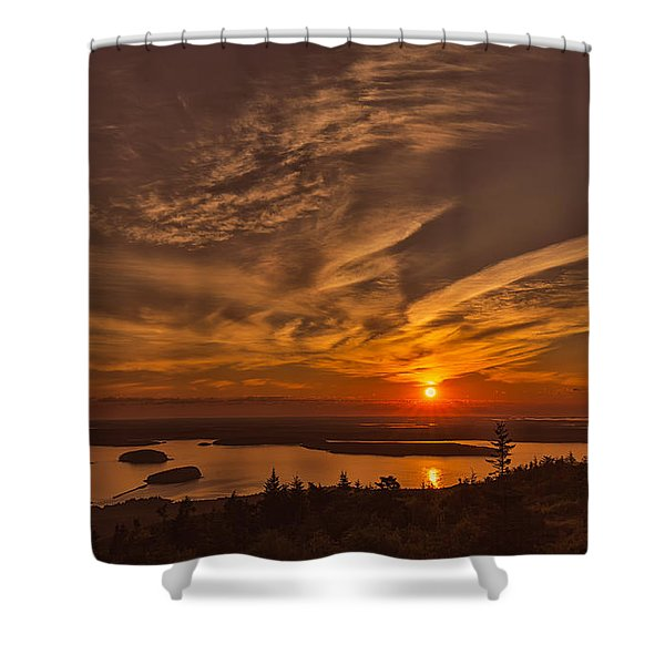 Watching The Sunrise Shower Curtain