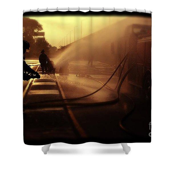 Water Blanket Shower Curtain