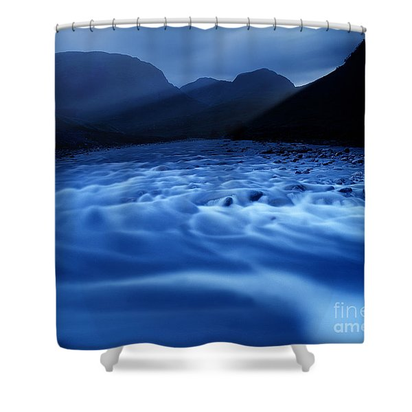 Water Blues Shower Curtain