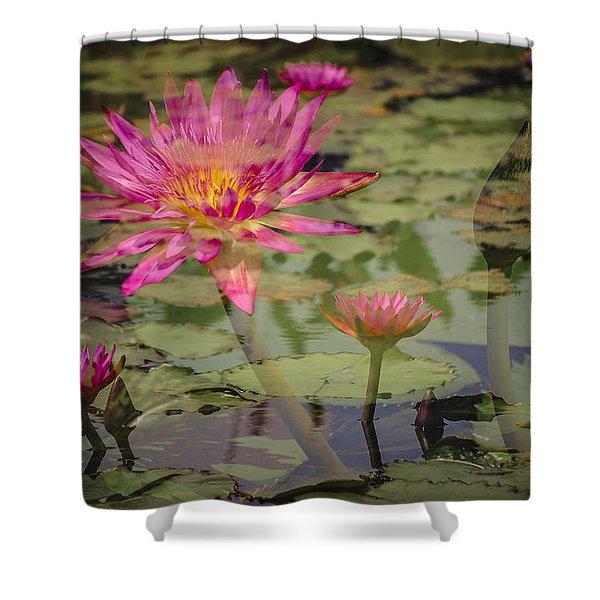 Water Garden Dream Shower Curtain
