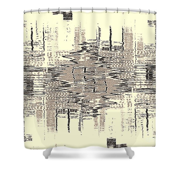 Water  Graph Shower Curtain