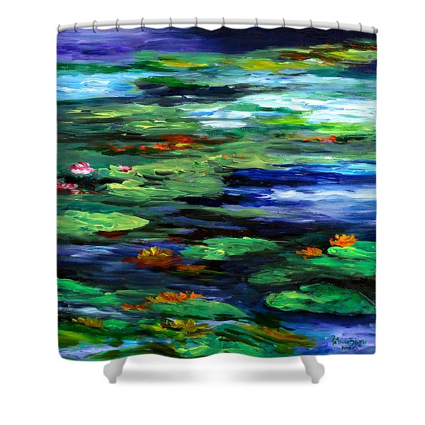 Water Lily Somnolence Shower Curtain