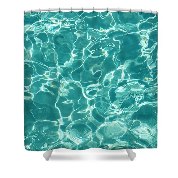 Water Meditation I. Five Elements. Healing With Feng Shui And Color Therapy In Interior Design Shower Curtain