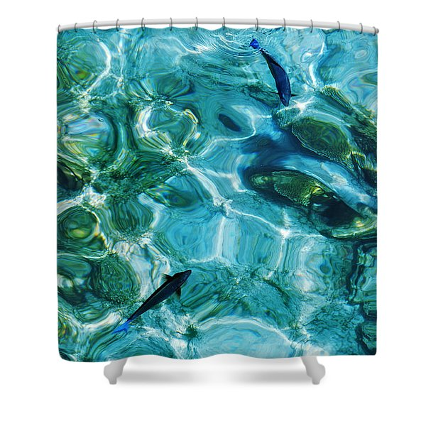 Water Meditation II. Five Elements. Healing With Feng Shui And Color Therapy In Interior Design Shower Curtain