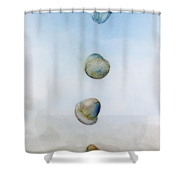 Watercolor Acorn Falls Shower Curtain