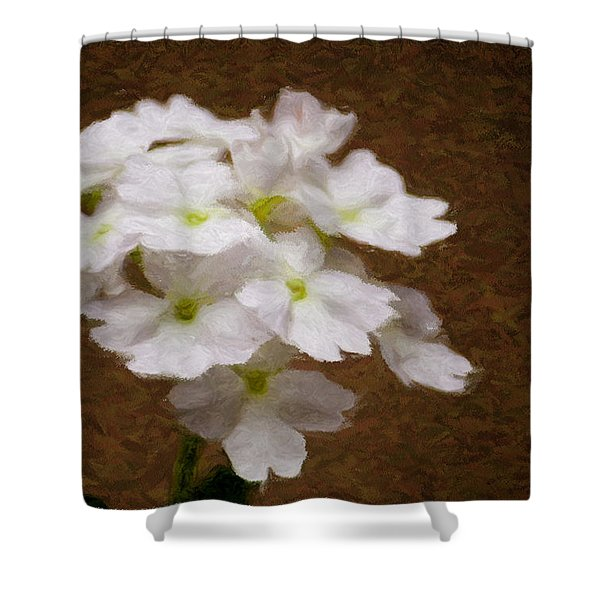 Watercolor Of Daisies Shower Curtain