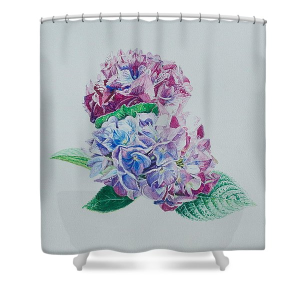 Watercolored Hydrangea Shower Curtain