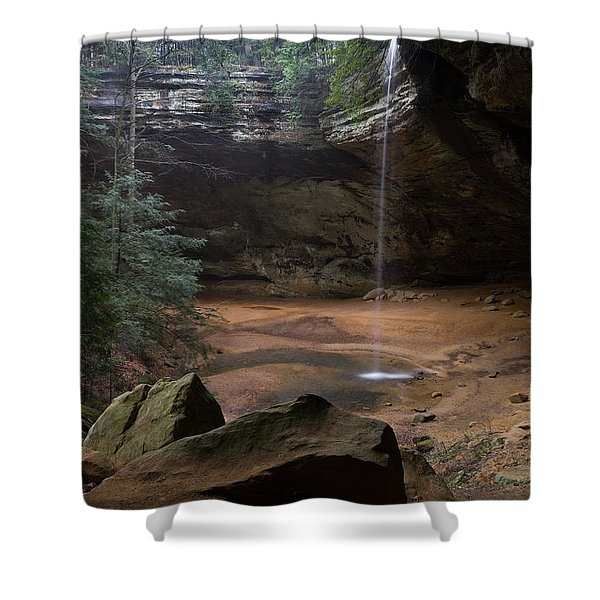Waterfall At Ash Cave Shower Curtain
