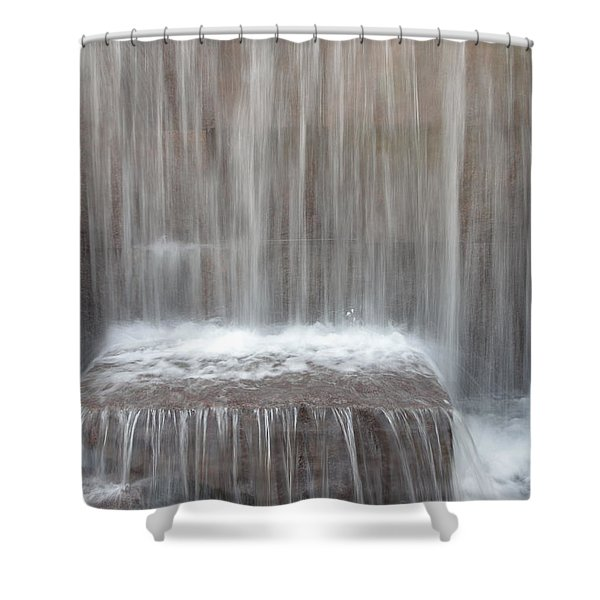 Waterfall At The Fdr Memorial In Washington Dc Shower Curtain