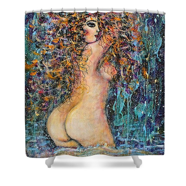 Waterfall Nude Shower Curtain