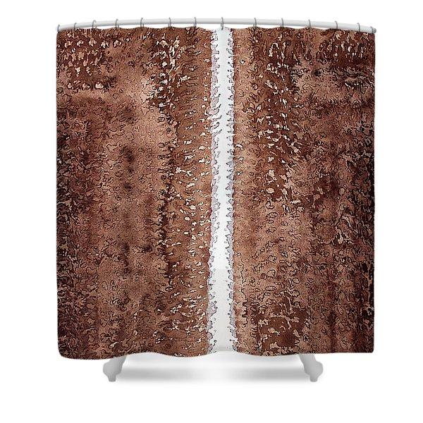 Waterfall Original Painting Shower Curtain