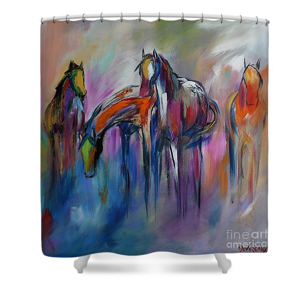Watering Hole Shower Curtain