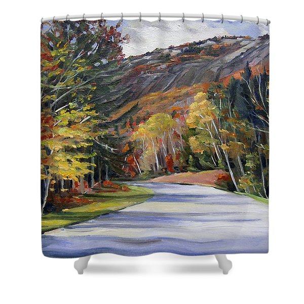 Waterville Road New Hampshire Shower Curtain