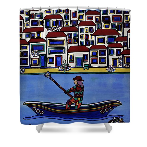 Watery Venice Shower Curtain