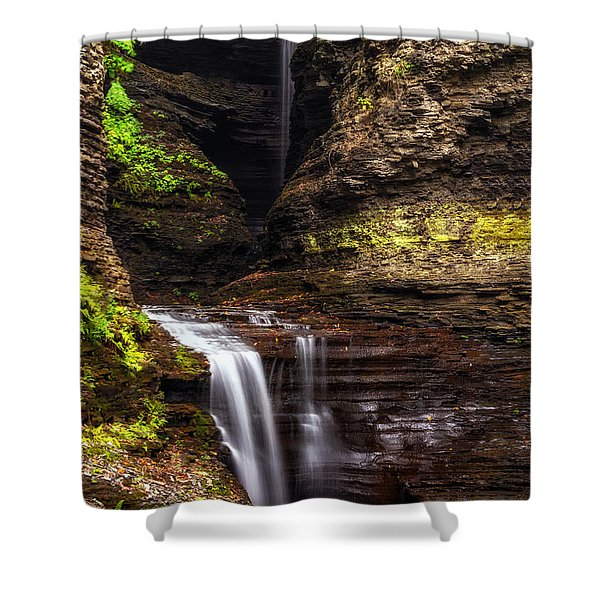 Watkins Glen Cavern Cascade Shower Curtain