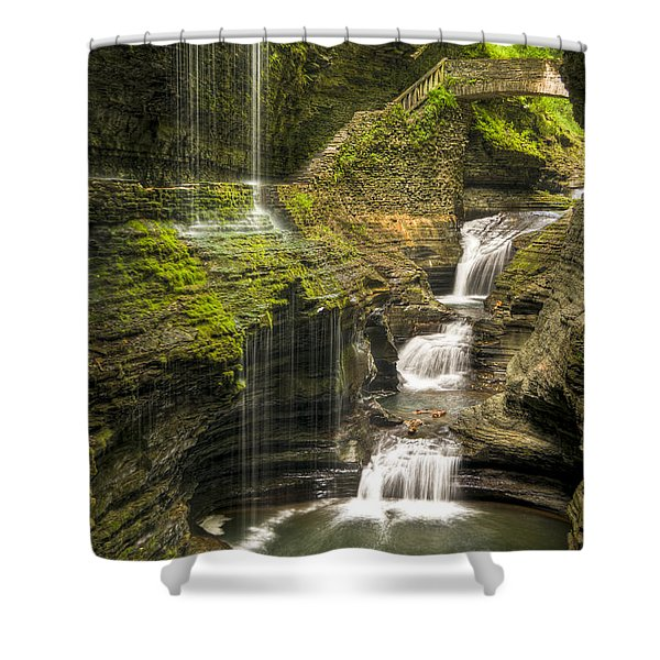 Watkins Glen Rainbow Falls Shower Curtain