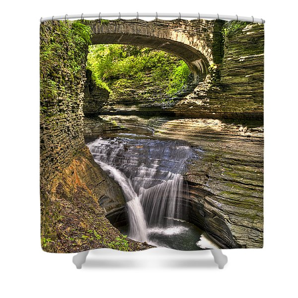 Watkins Glen Waterfalls Shower Curtain