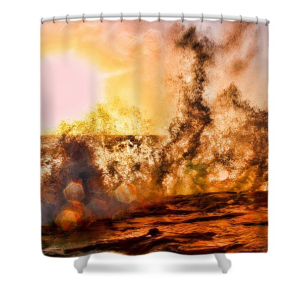 Wave Crasher La Jolla By Diana Sainz Shower Curtain