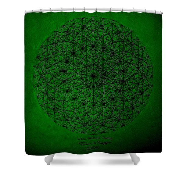 Wave Particle Duality II Shower Curtain