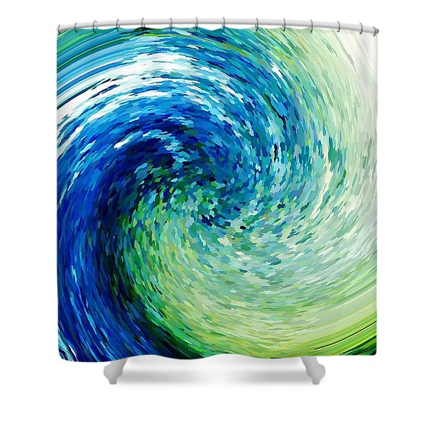 Wave To Van Gogh Shower Curtain