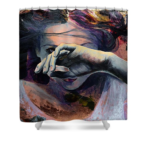 Wavering... Shower Curtain