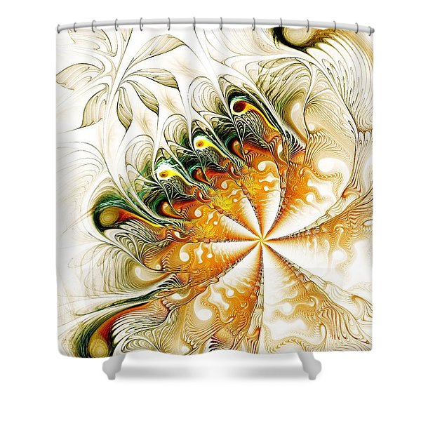 Waves And Pearls Shower Curtain
