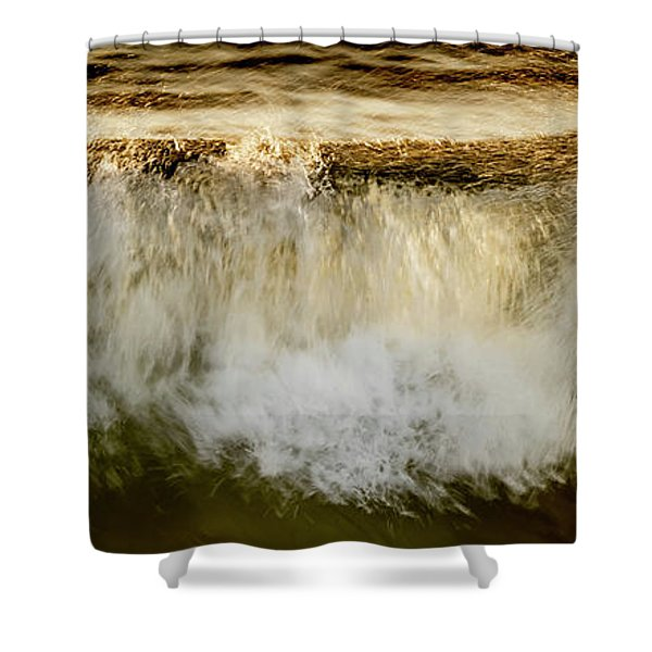 Waves Breaking At The Shore Reflecting Shower Curtain