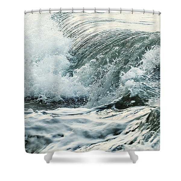 Waves In Stormy Ocean Shower Curtain