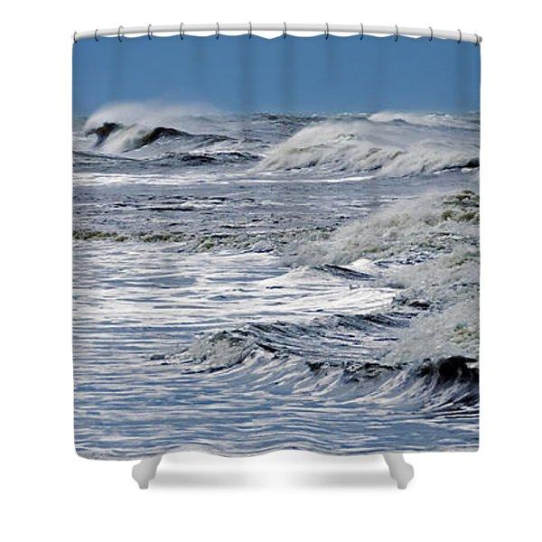 Waves Off Sandfiddler Rd Corolla Nc Shower Curtain