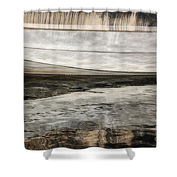 Wavy Reflections Shower Curtain