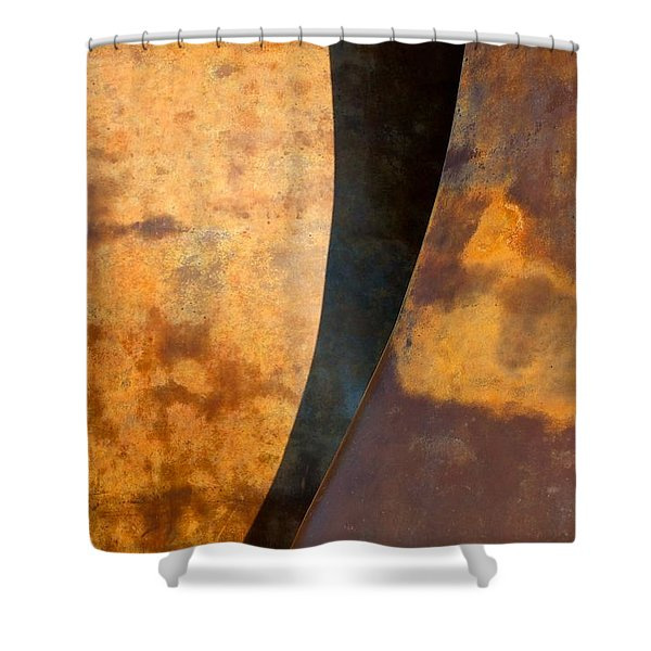Weathered Bronze Abstract Shower Curtain