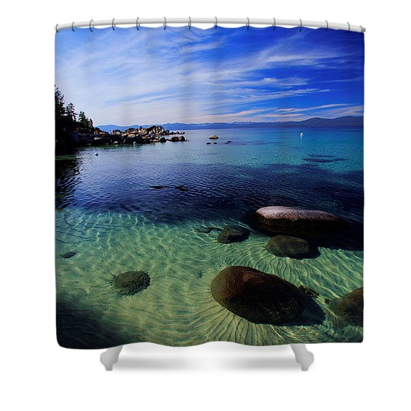 Welcome To Bliss Beach Shower Curtain