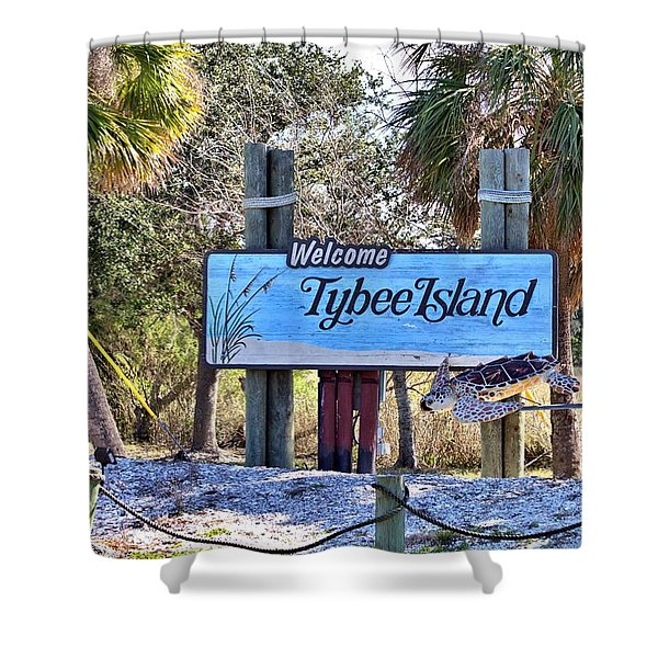 Welcome To Tybee Shower Curtain
