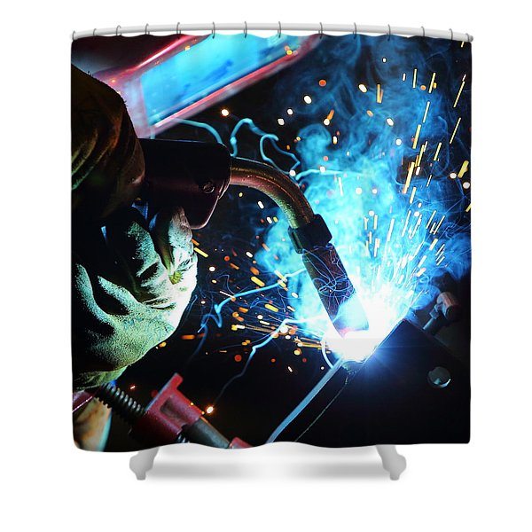 Weld Shower Curtain