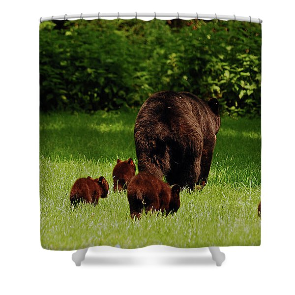 We'll Be Back Shower Curtain