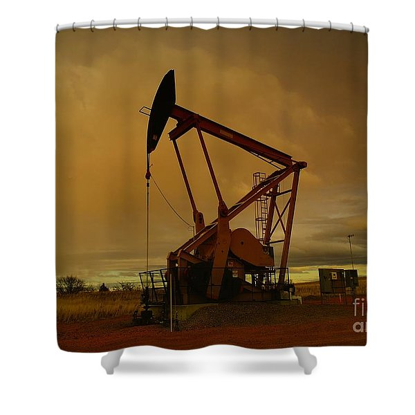 Wellhead At Dusk Shower Curtain
