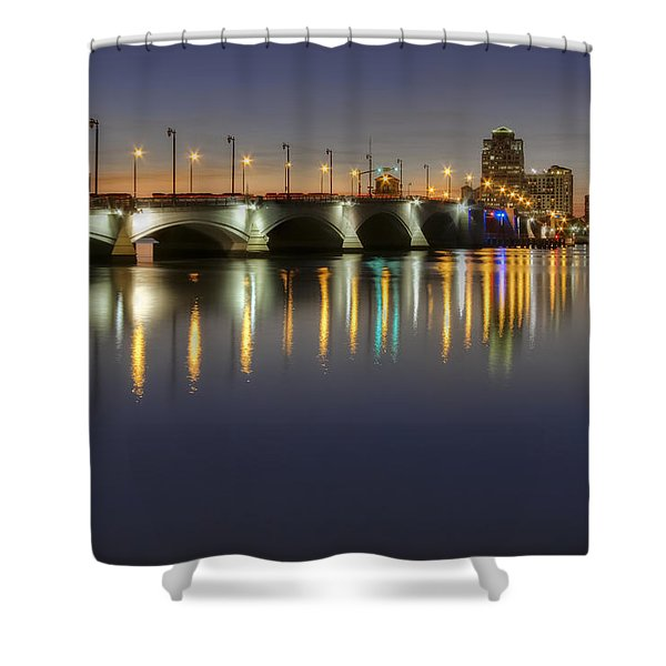 West Palm Beach At Night Shower Curtain