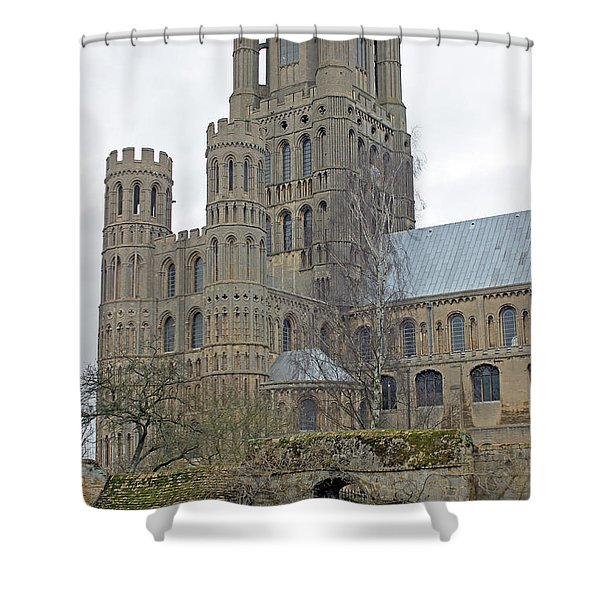 West Tower Of Ely Cathedral  Shower Curtain