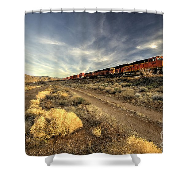 Westbound Freight  Shower Curtain