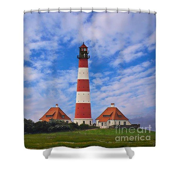 Westerhever Lighthouse No 2 Shower Curtain