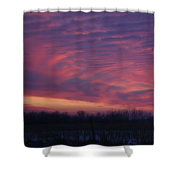 Western Evening Wide Open Shower Curtain