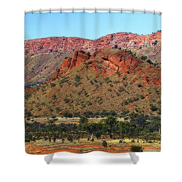 Western Macdonnell Ranges Shower Curtain