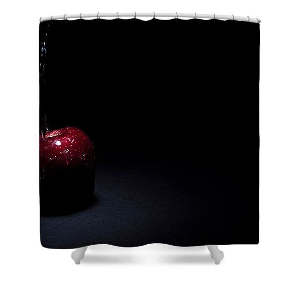 Wet Apple Shower Curtain