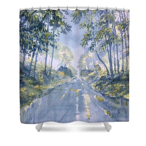 Wet Road In Woldgate Shower Curtain