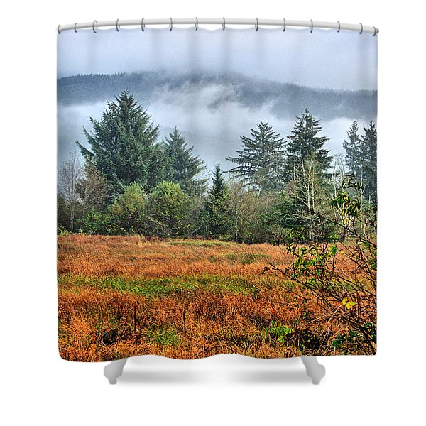 Wetlands In The Fall Shower Curtain
