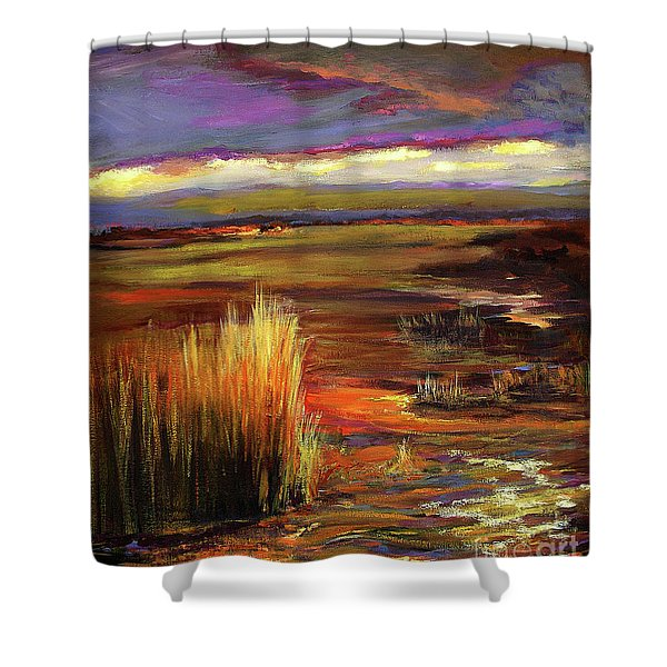 Wetlands Sunset Iv Shower Curtain