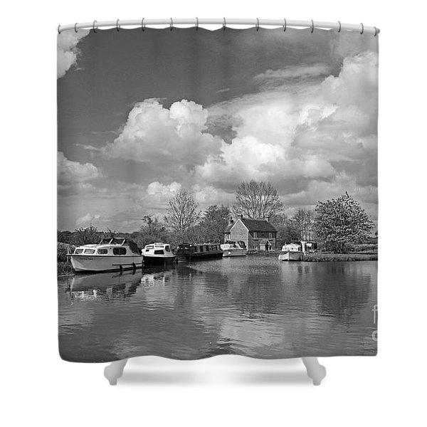 Wey Canal Ripley Surrey Shower Curtain