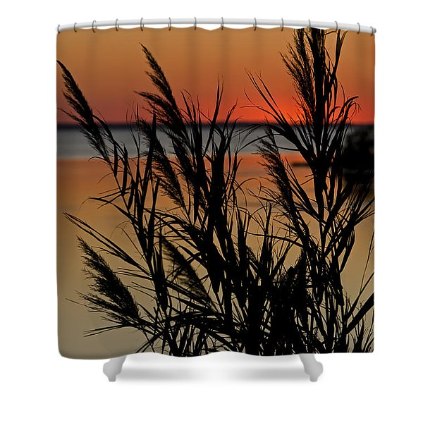 Whalehead Sunset Obx II Shower Curtain